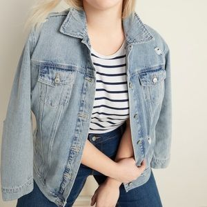 Old Navy Classic Distressed Jean Jacket